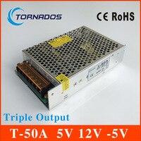 50 W Triple Sortie dc alimentation 5 V 7A 12 V 1A-5 V 1A ac à dc alimentation T-50A