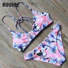 RUUHEE Bikini Swimwear Women Swimsuit 2018 Halter Bathing Suit Brand Beachwear Push Up Maillot De Bain Femme Mid Cut Bikini Set