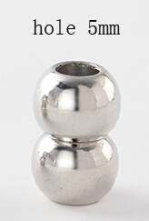 10 шт./лот отверстие 3/4/5/7 мм круглые магнитные застежки для Браслеты F841A - Цвет: hole 5mm