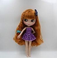 Blygirl Blyth doll kolor Czekoladowy grzywka włosy nagie lalki 30 cm wspólny organ 19 wspólne DIY doll może zmienić makijaż