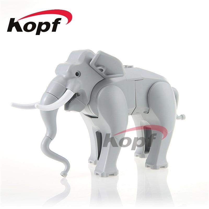 Single Sale PG1080 Super Heroes Elephant Figure Cute Animal Dolls Bricks Set Model Building Blocks Children Toys Christmas Gift projector lamp bulb an xr20l2 anxr20l2 for sharp pg mb55 pg mb56 pg mb56x pg mb65 pg mb65x pg mb66x xg mb65x l with houing