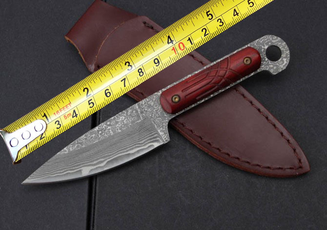 Collection Damascus Fixed Knife Steel+Wood Handle Survival Straight Knife Hunting Outdoor Knives Knives Camping Tools quality luxury fixed blade damascus knife 58hrc antlers handle for collection gift outdoor survival