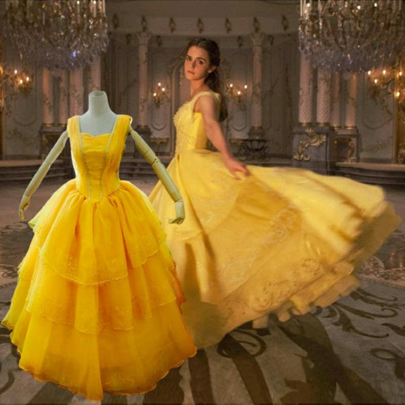 Beauty And The Beast Bridesmaid Dresses: Sexy Beauty And The Beast Girl Children Women 2017 Cosplay