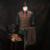 (Chaqueta + Chaleco + Pantalón) 2016 de Invierno de Lana Mezcla Traje Pagado Traje de Más Tamaño Traje de Color Marrón Banquete Cena Traje Vintagen Partido