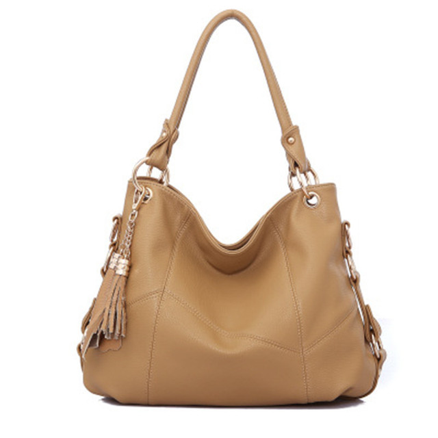 b6066c1ade 2018 New Fashion Luxury Handbags Women Bags Designer Women s Shoulder Bag  Female Genuine Leather Handbags Retro Tassel Large Bag
