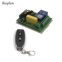 Sleeplion AC 220V 2 Channel Wireless Remote Control Switch 1 Receiver + 1 Transmitter New,315MHz/433MHz nice uting ce fcc industrial wireless radio double speed f21 4d remote control 1 transmitter 1 receiver for crane