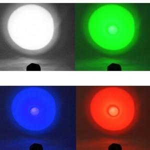 Image 5 - Torcia tattica Anjoet luce bianca/verde/rossa/blu L2 torcia da campo a led 1 modalità + pressostato + attacco lampada per fucile da caccia