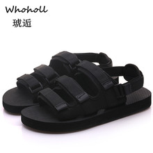 Whoholl Plus Size 36-46 Men Sandals Fashion Men Slipper Summer Beach Shoes Lover Shoes Open Toe Slides Slippers Sandalias Hombre недорого