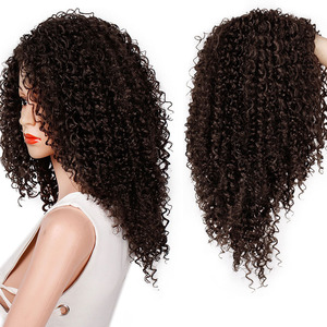 Image 3 - Волосы AISI, 16 дюймов, темно коричневые, афро, курчавые, синтетический парик для женщин, термостойкие, африканские, пушистые волосы, парики