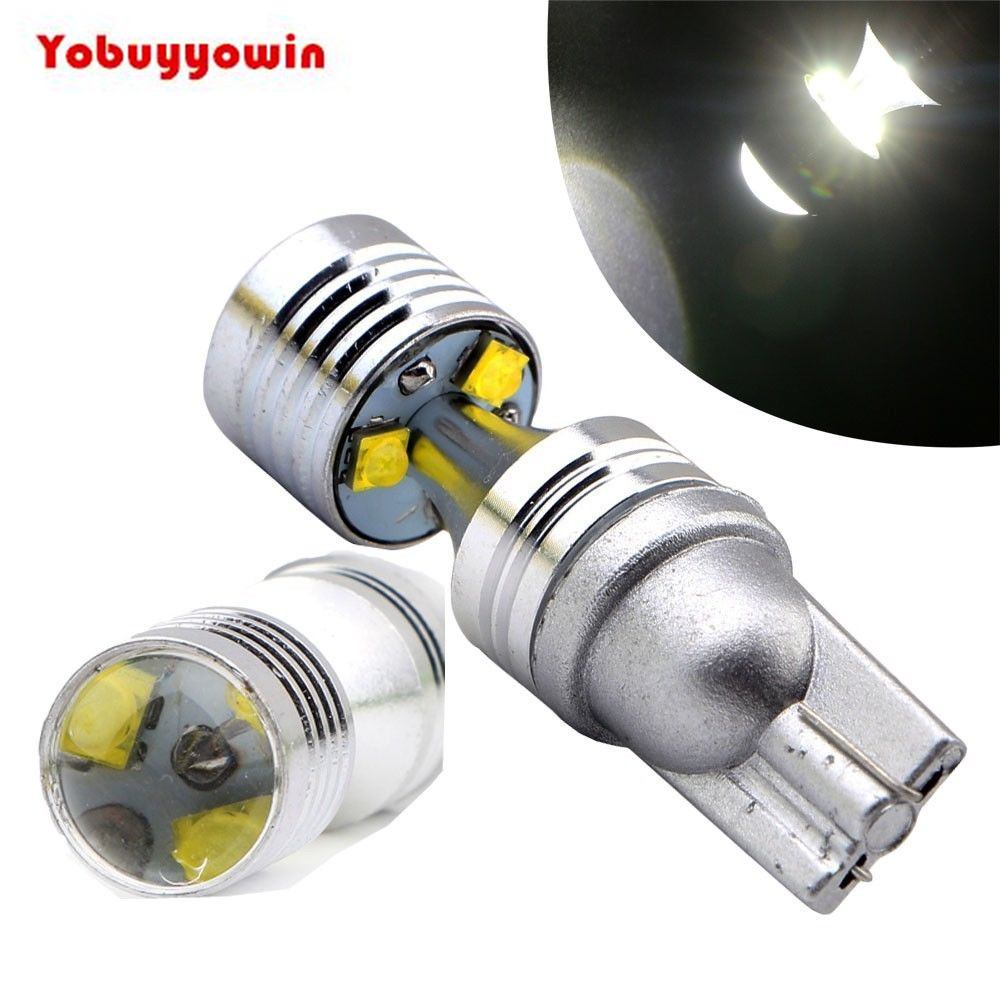 2Pcs T10 30W Cree Chips Car Led Brake Light White 921 6000K Car Projector Reverse Backup LED Lights Bulbs 2pcs brand new high quality superb error free 5050 smd 360 degrees led backup reverse light bulbs t15 for jeep grand cherokee