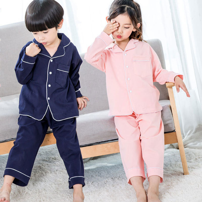 2018 kids pajamas sets baby girl and boys clothes teenage girls pajamas suits long sleeve tops and pants 2 pieces clothing sets garyduck girls clothing sets kids knitted suits long sleeve houndstooth tops skirts 2pcs for girls suits