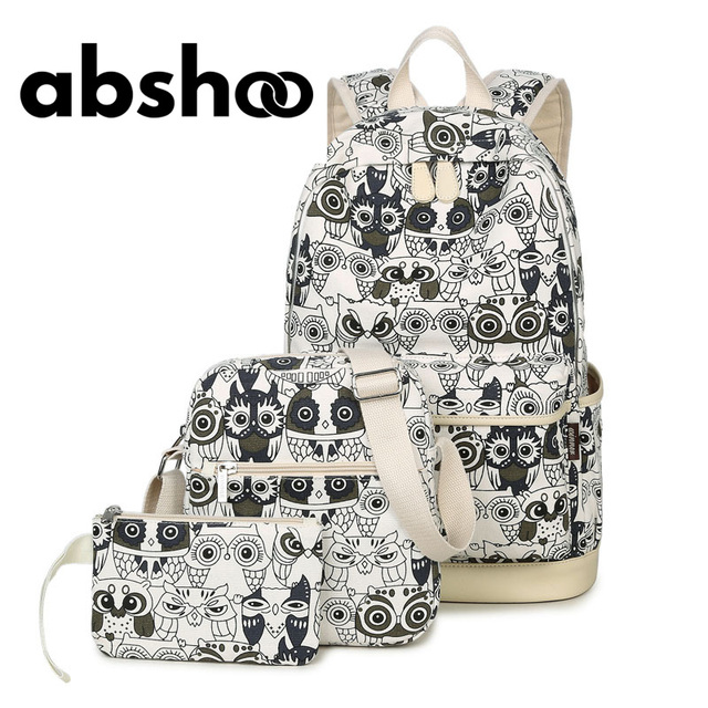 97fda8d95 Cute Owl Printing Backpacks For Teenage Girls School Bags Fashion Printed  Canvas Women Backpack Shoulder Bags Purse For Women