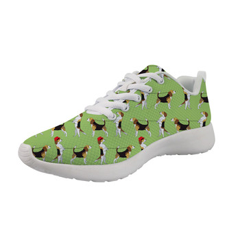 Summer Beagle dog print Breathable Sneakers women in women's Flats 2019 Shoes Female White bottom High quality Flats Sneakers