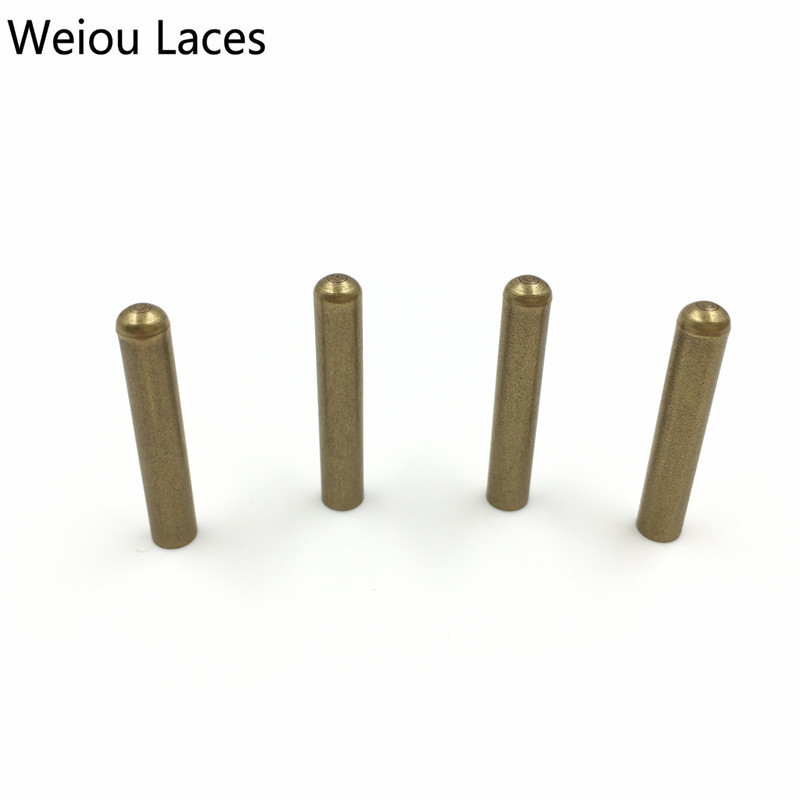 Weiou 4pcs 1 Set Of 4x22mm Seamless Metal Tips Shoelaces Bullet Head Replacement Repair Aglets DIY Sneaker Kits Rose Gold Bronze