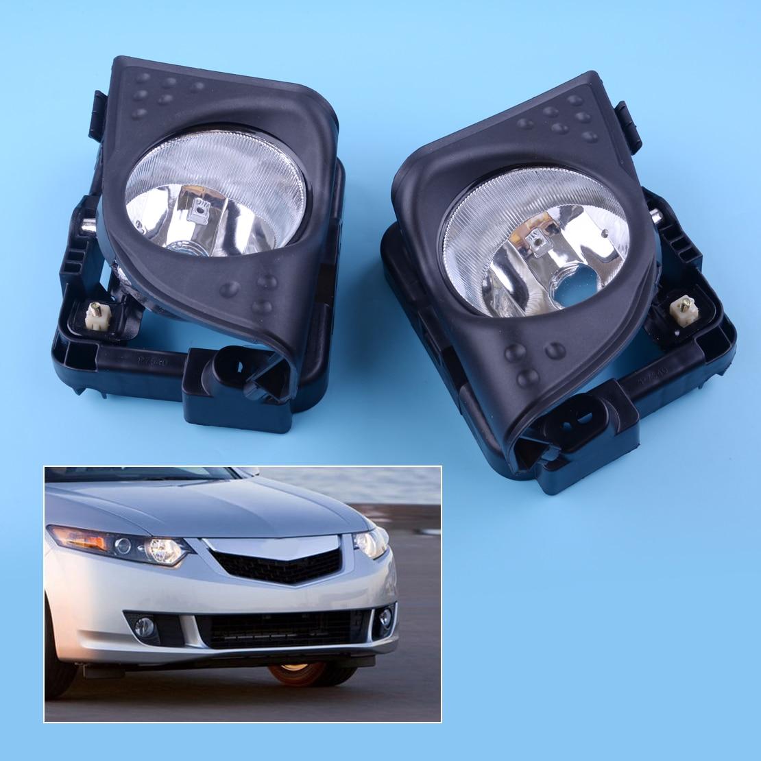 Nouveau 1 paire noir voiture gauche droite avant brouillard conduite lampe couvercle garniture cadre 33900TL0A01 33950TL0A01 Fit pour Acura TSX 2009 2010