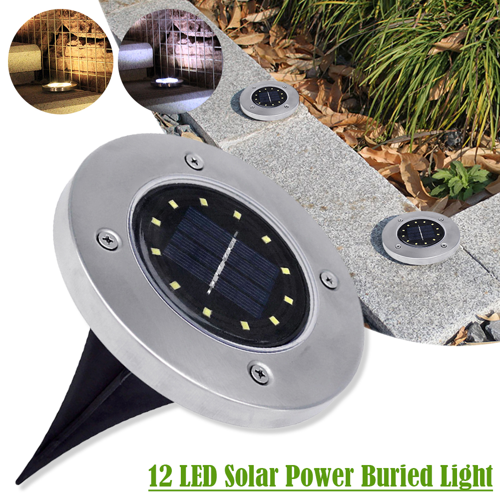 LED Solar Power Sepolto Light Under Ground Lamp Outdoor Path Way Decking da gi