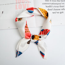 Fashion Retro-French Female Scarf Decoration Thin Professional Square Scarf, Hundred-tied and Multi-functional