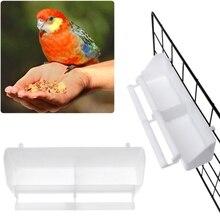 21,5*5*6,5 см 2 шт./компл. птичий корм миски для чашки белый 2 в 1 крючок Пластик попугай голубей стойка для сидения чашки Кормление птиц инструменты