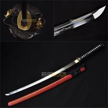 Free Sword Bag Full Tang Real Traditional Japan Hand forged folded Clay Tempered Steel Sharp Japanese Samurai Katana Sword #BEC