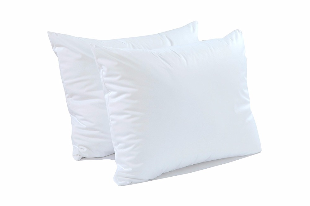 IRoyal One Piece 50X70CM Smooth Waterproof Pillow Protector Zipper Pillow Cover Anti Mite Pillowcase Machine Washable Case