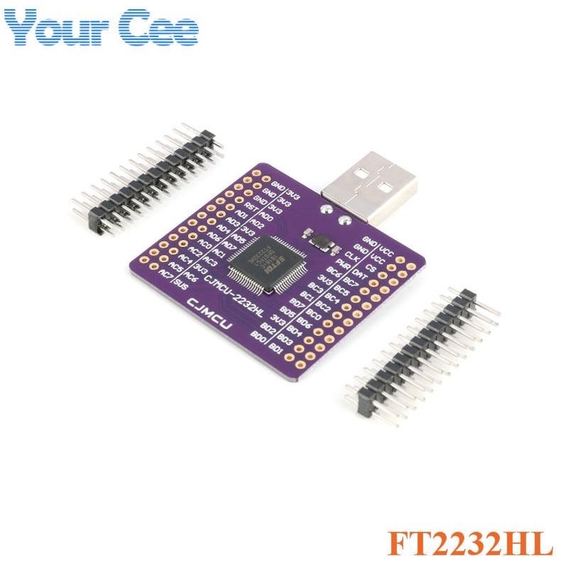 FT2232HL USB TURN UART FIFO SPI I2C JTAG RS232 Module FT2232HL CJMCU-2232HL USB to UART Module Dual ChannelFT2232HL USB TURN UART FIFO SPI I2C JTAG RS232 Module FT2232HL CJMCU-2232HL USB to UART Module Dual Channel
