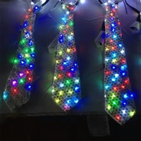 Colorful Led Luminous Neck Tie Mixcolor Flashing Fashion Tie Party And Dancing Stage Glowing Christmas Stage Show Tie Dance Wear