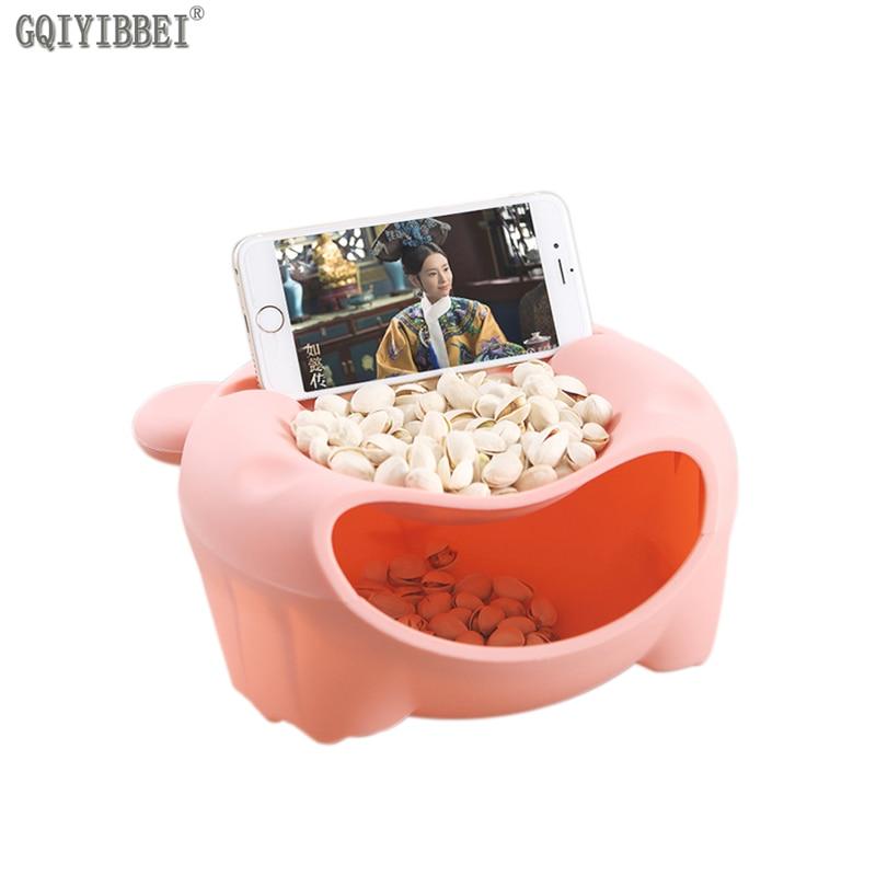 GQIYIBBEI Plastic Mooie Desktop Snack Fruit Voedsel Opbergdoos - Home opslag en organisatie