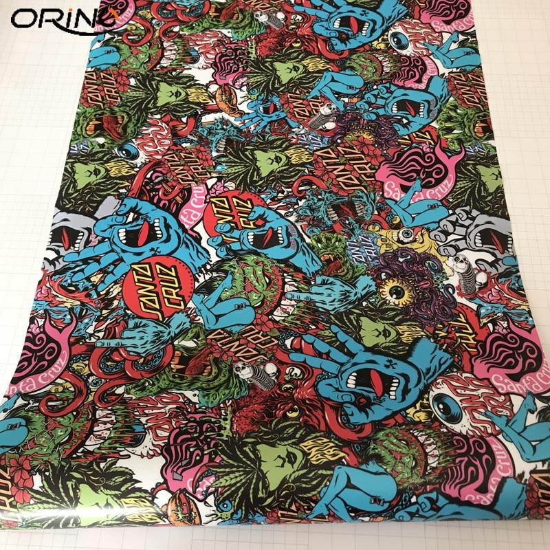Camouflage Sticker Bomb Vinyl Film Wrap-3