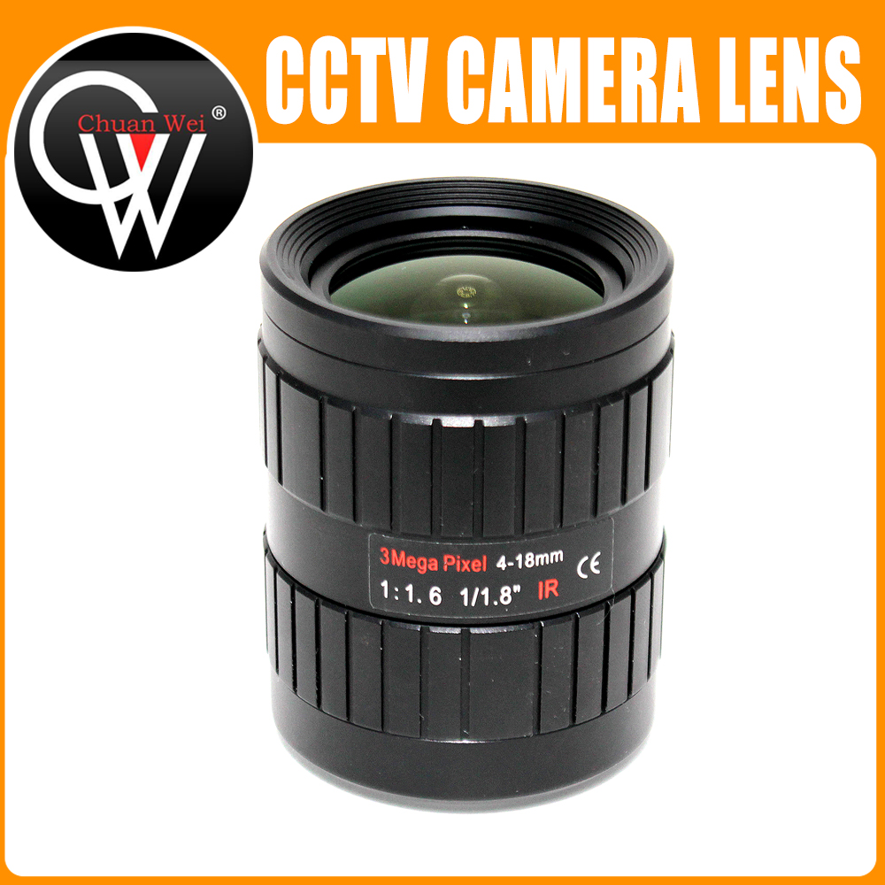 3MP 4-18mm CCTV Lens Manual IRIS Varifocal 1/1.8 inch C Mount Industrial lens For IMX185 1080P Box Camera IP Camera 3mp 4 18mm cctv lens manual iris varifocal 1 1 8 inch c mount industrial lens for imx185 1080p box camera ip camera