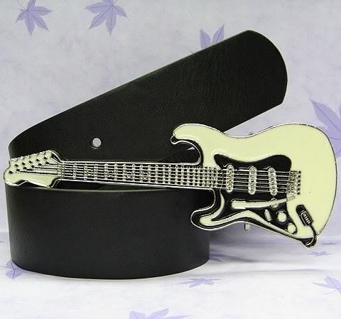 Free Shipping Electric Guitar Rock  Belt Buckle +free belt 100pcs