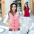 Hot Selling New Baseball Collar Fashion Slim Fit women Waistcoats Young Lady Vest Jacket Coat Plus Size HD8201