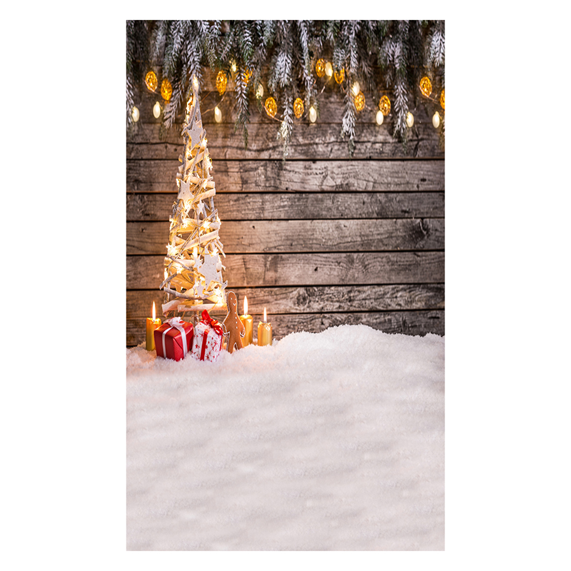 5X7FT 150X210CM Vinyl Christmas theme picture cloth photography background studio props Snow Wooden wall lights string candle kids dresses for girls girl dress free shipping2010 fashion dance dress performance wear leotard 085 hair accessory oversleeps