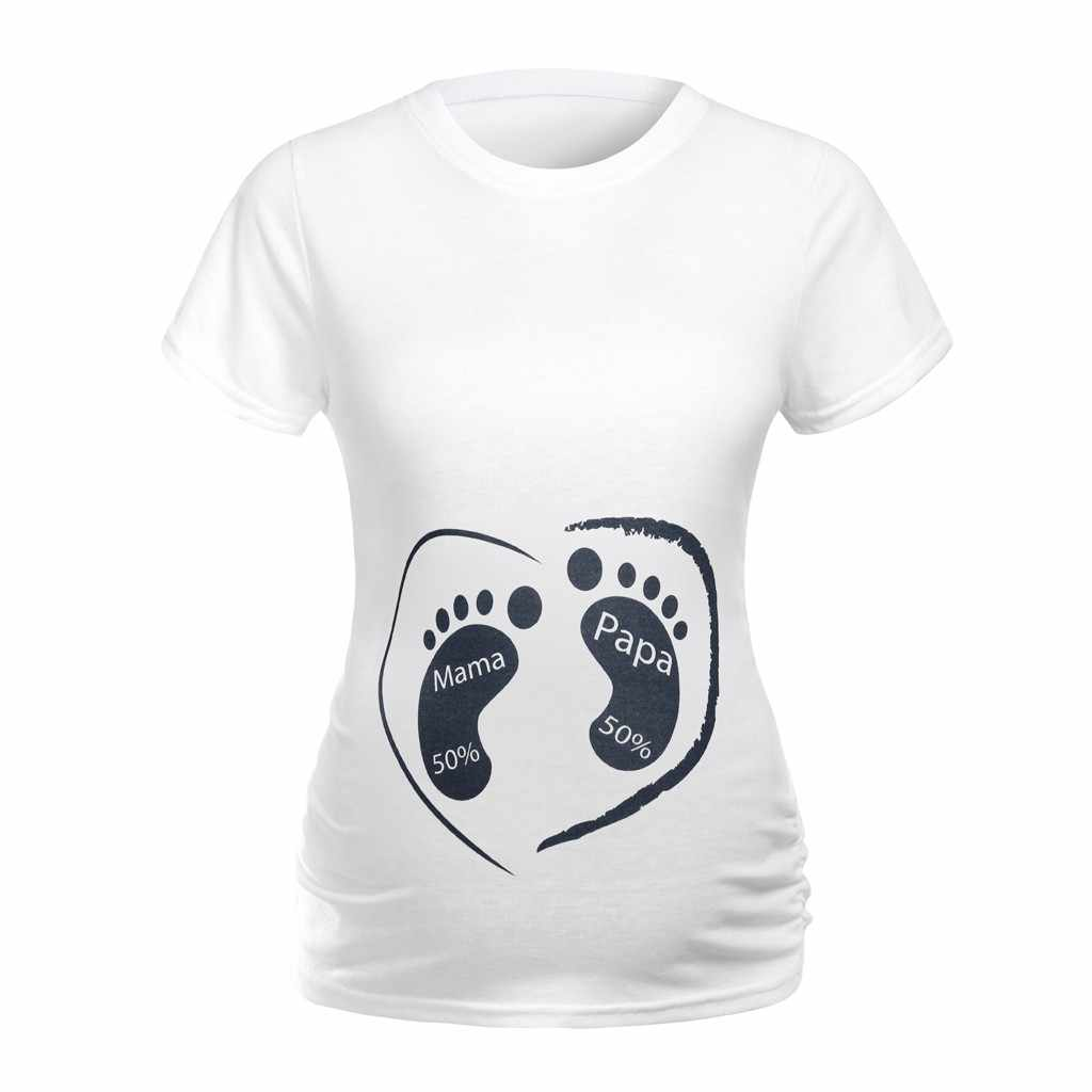 Fashion Cartoon 3D Print Pregnant Maternity t shirts Women Casual Pregnancy Clothes For Pregnant Women Gravida Cotton Vestidos