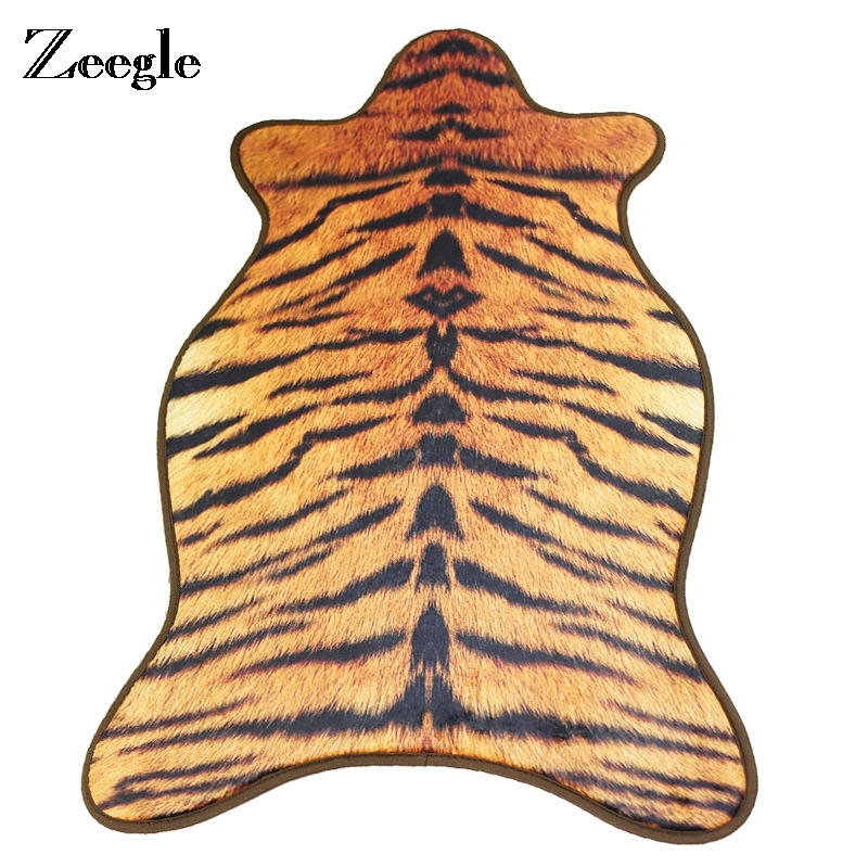 Zeegle Living Room Carpet Sofa Cover Blanket Coffee Table Floor Mat Child Room Rug Bedside Mat Artificial Animal Skin Carpet