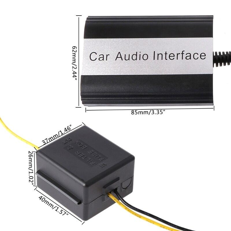 OOTDTY kit mains libres Bluetooth pour voiture Interface adaptateur MP3 AUX pour Mazda 3 5 6 RX8 SPD-m15 - 5