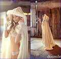 Romântico 2015 com capuz capa de noiva branco marfim jaqueta de casamento de casamento Bolero mulheres inverno casacos acessórios