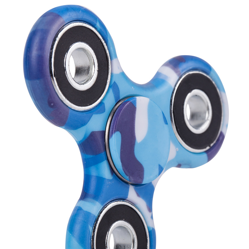 camouflage hand spinner spinning blue