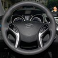 Steering Wheel Leather Cover Case for HYUNDAI ELANTRA 5 Car DIY Hand-stitched Car-styling Genuine Leather Cover