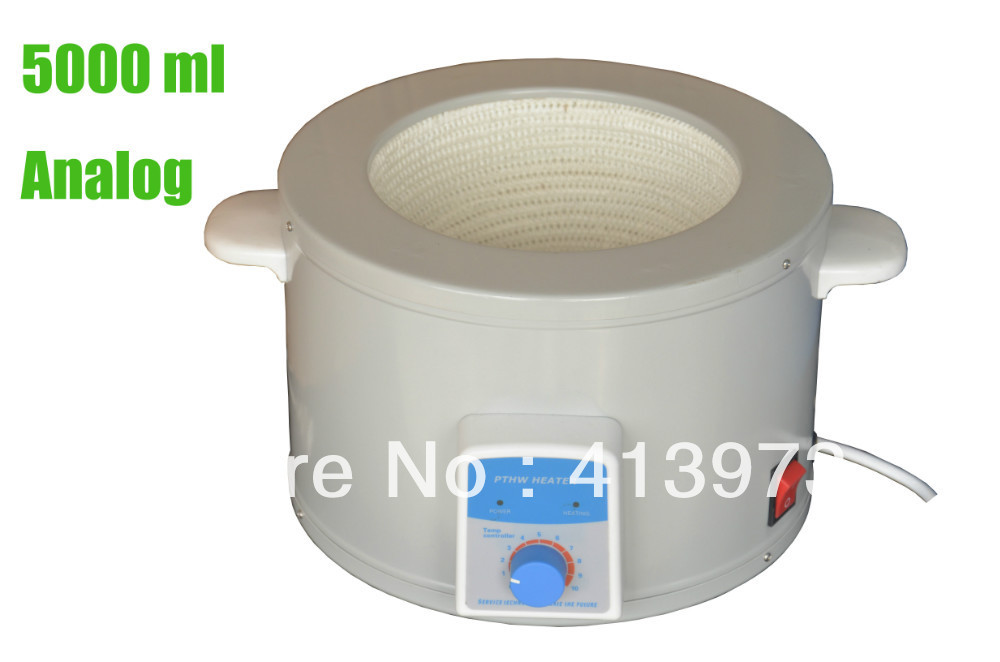 Free shipping,  5L Temperature Controlled Laboratory Thermostat  Heating Mantle ksd302x 20a 250v 92 centigrade 4 pin temperature controlled thermostat assembly thermostat new