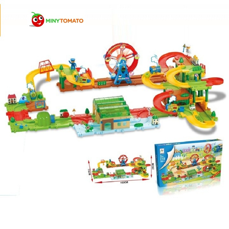 Sky Wheel Park II DIY Track Electric Train Building Block Toy Boy Gift Learning&Educational Toys For Chilren 2112 Withno Box ...
