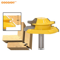 Cocosoly 1pc 45 Degree Up To 3 4 Stock Lock Miter Router Bit 8mm Shank