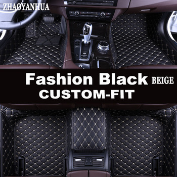 ZHAOYANHUA Special custom made car floor mats for Toyota Corolla RAV4 Prius Prado Sienna zelas leather Anti-slip carpet liner image