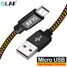OLAF Micro USB Cable 1m 2m 3m Fast Charging Nylon USB Sync Data Mobile Phone Android Adapter Charger Cable for Samsung Cable(China)