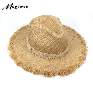 47d39f3aac29b MAOCWEE Cowboys Mens Raffia Straw Hat Women Summer Sun Caps