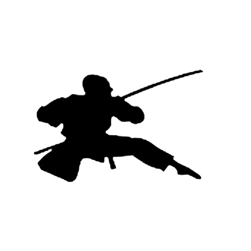 15cm*10.1cm Funny Ninja Samurai Assassin Katana Duel Sneak Swing Decals Vinyl Car-styling Car Sticker S6-4055