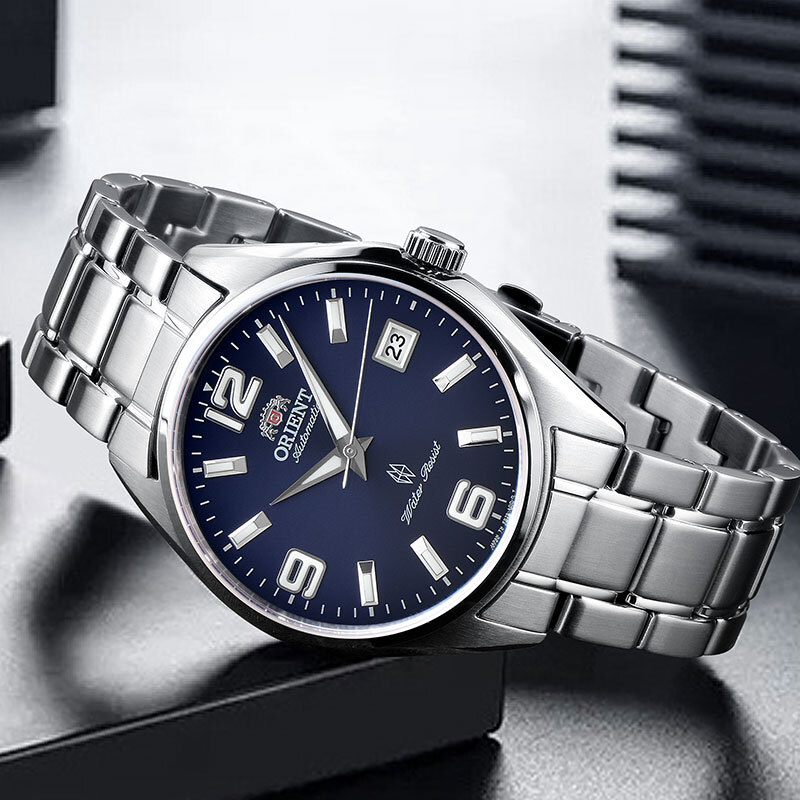 100% Original ORIENT Watch Fashion Bussiness Automatic Mechanical Mens Watch 5 Bar Water Resistance  Stainless Steel100% Original ORIENT Watch Fashion Bussiness Automatic Mechanical Mens Watch 5 Bar Water Resistance  Stainless Steel