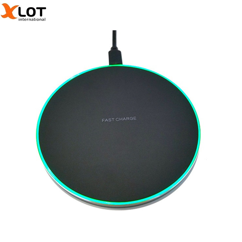 Qi fast Wireless Charger quick Desktop Wireless Charging Pad For iPhone X 8 8 Plus for Samsung Galaxy S7 / S8 / S8+/ S6 edge