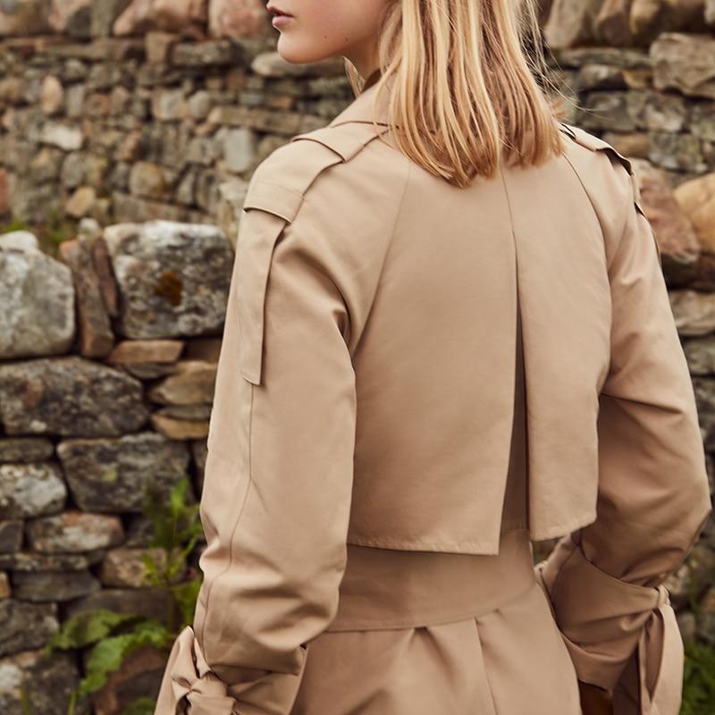 Vero Moda 19 new windshield design cuffs decorated british long trench coat | 318321508 20