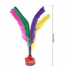 Красочные перья Китайский Jianzi Фитнес Спортивная игрушка игра ноги ногами волан