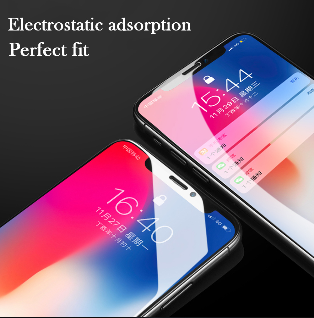New 7D Screen Protector Curved Edge Full Cover Protective Glass For iphone X 8 7 6 Plus 9H Protective Glass white black Film  (9)